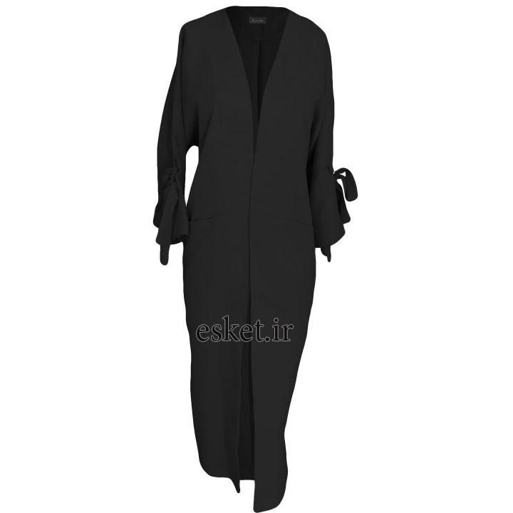 مانتو مجلسی مشکی شیک زنانه کد B9912 رنگ مشکی غیر اصل