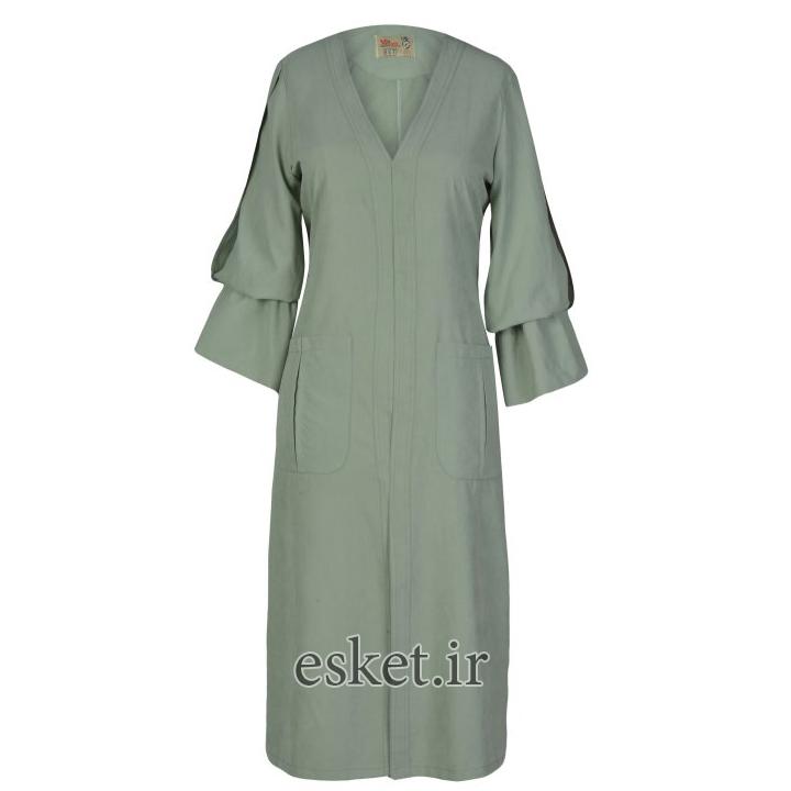 بارانی زنانه مانتو ولیعصر مدل پوپک کد 51711 - مدل مانتو مناسب افراد لاغر