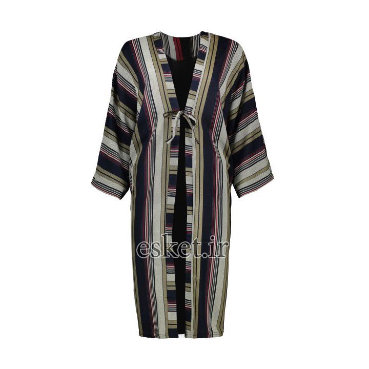 رویه زنانه کد 6102 - مانتو آستین کیمونو جدید