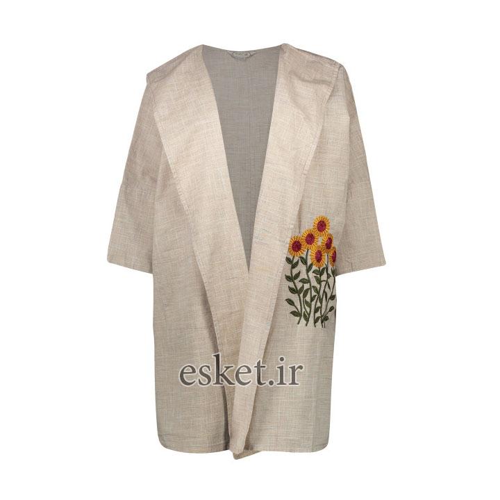 رویه زنانه تن درست مدل 168COFFEE - مانتو آستین کیمونو جدید