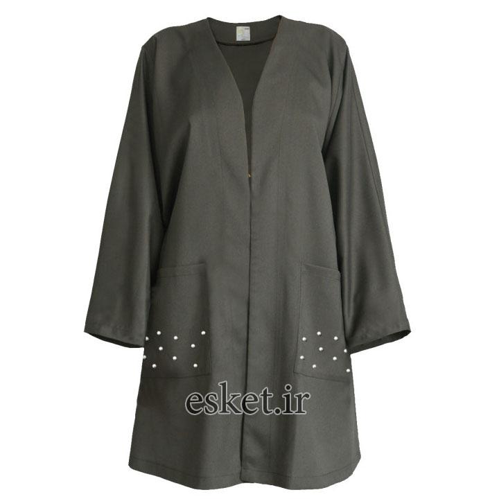 مانتو زنانه مسترمانی کد 1001 - مانتو آستین کیمونو جدید