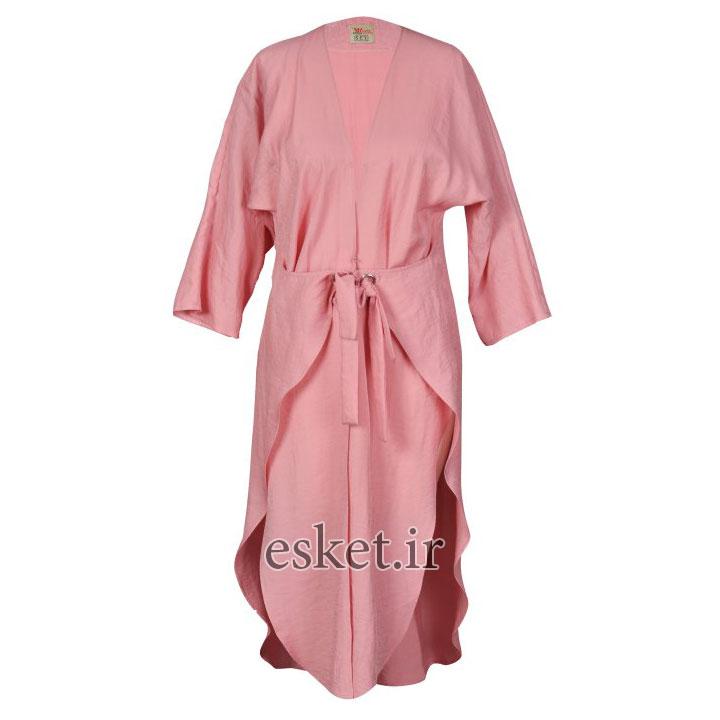 مانتو زنانه مانتو ولیعصر مدل پریسا کد 48018 - مانتو آستین کیمونو جدید