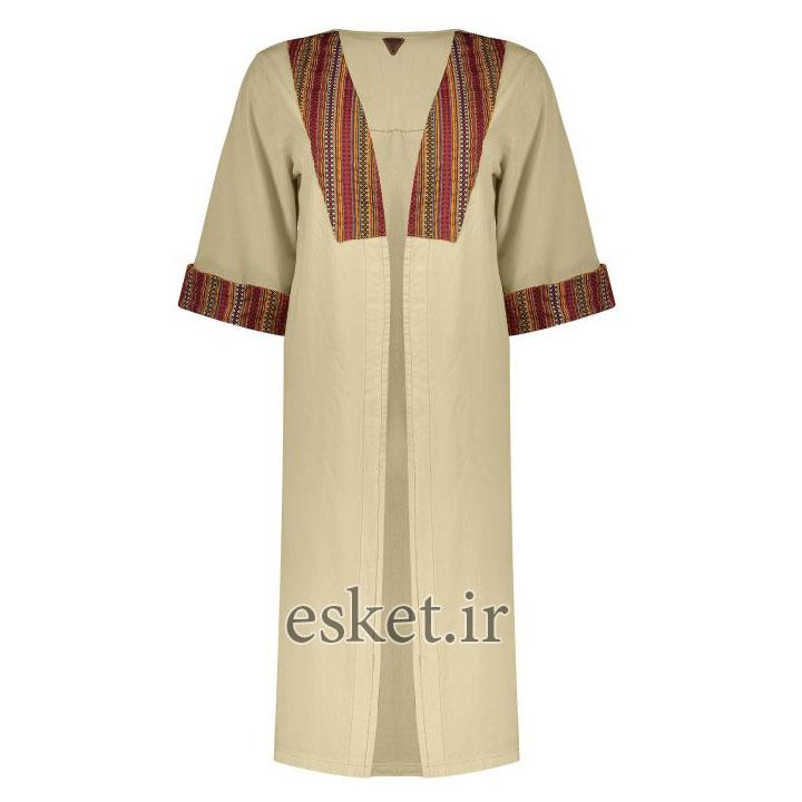 مانتو سنتی دخترانه شیک رنگ کرم