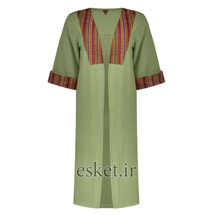 مانتو سنتی دخترانه شیک رنگ سبز