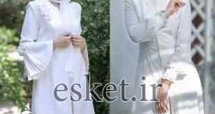 مانتو سفید مجلسی شیک ( 10 مدل زیبا و جدید )