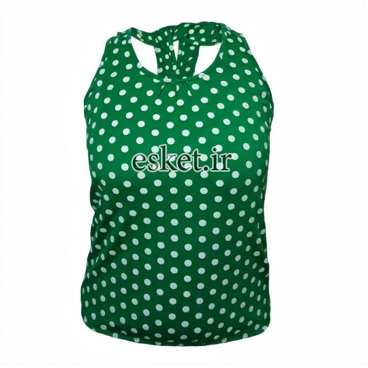 تاپ دخترانه اسپرت شیک کد Txsab رنگ سبز
