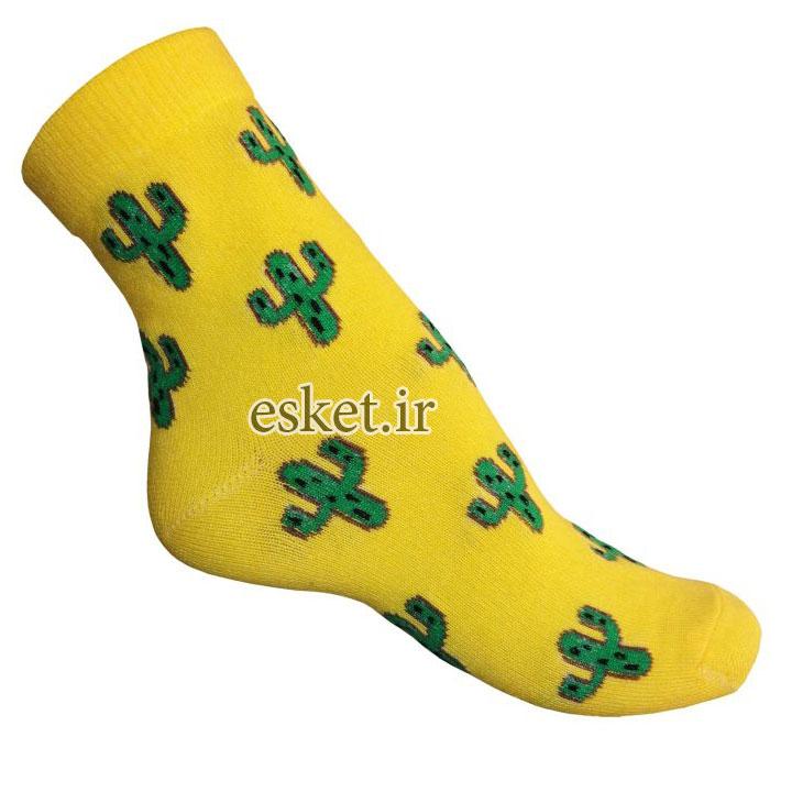جوراب نخی زنانه طرح کاکتوس کد ka1