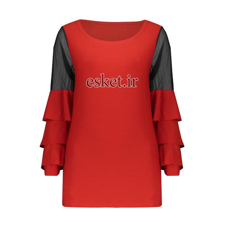بلوز زنانه زیبا و شیک مدل 705رنگ قرمز