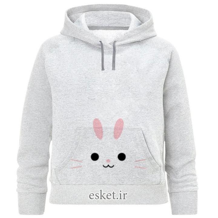 هودی دخترانه زیبا و جذاب طرح خرگوشکد F89