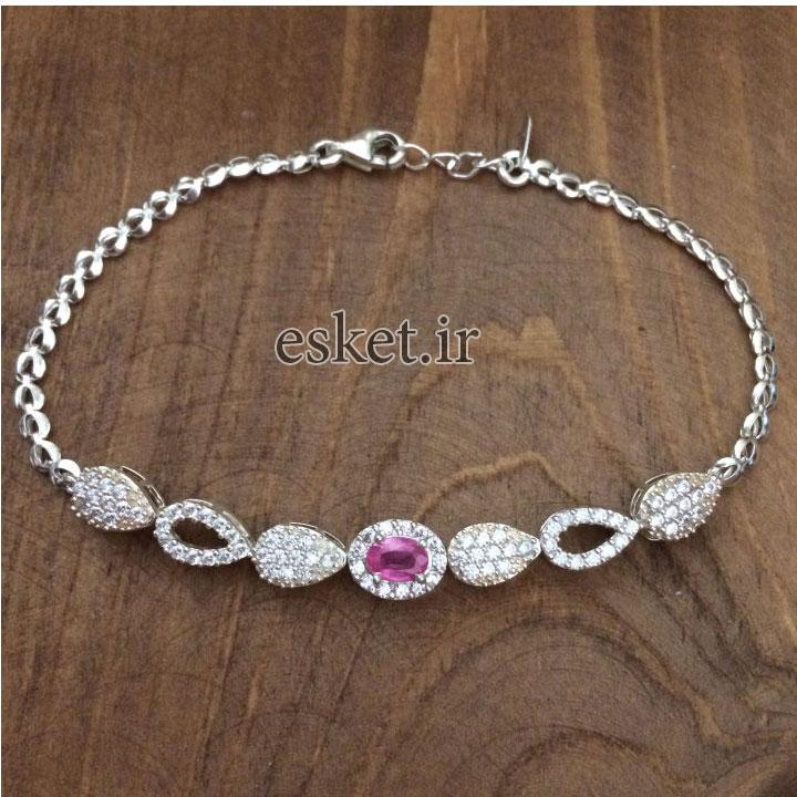 دستبند نقره زنانه زیبا کد 3038