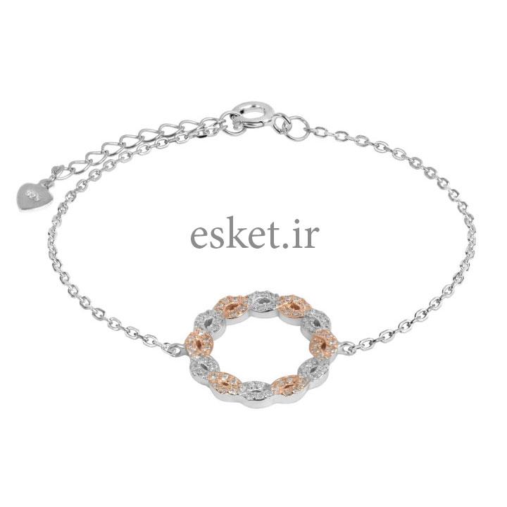 دستبند نقره زنانه زیبا اقلیمه کد DN439