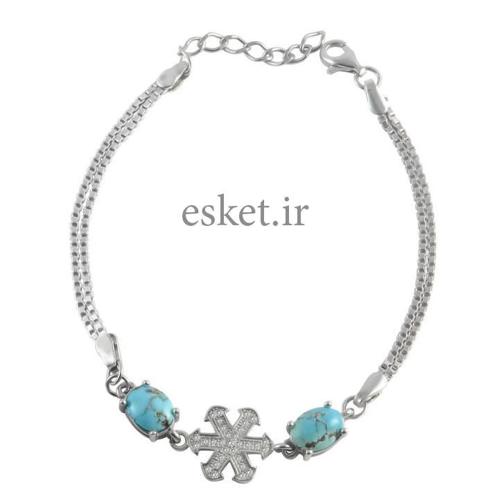 دستبند نقره زنانه زیبا کد 015