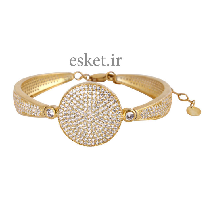 دستبند نقره زنانه زیبا کد 180166