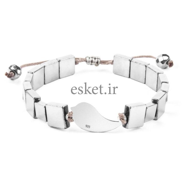 دستبند نقره زنانه زیبا ریسه گالری مدل Ri3-H1046S-Silver