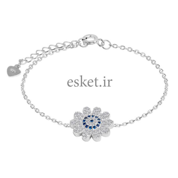 دستبند نقره زنانه زیبا اقلیمه کد DN430