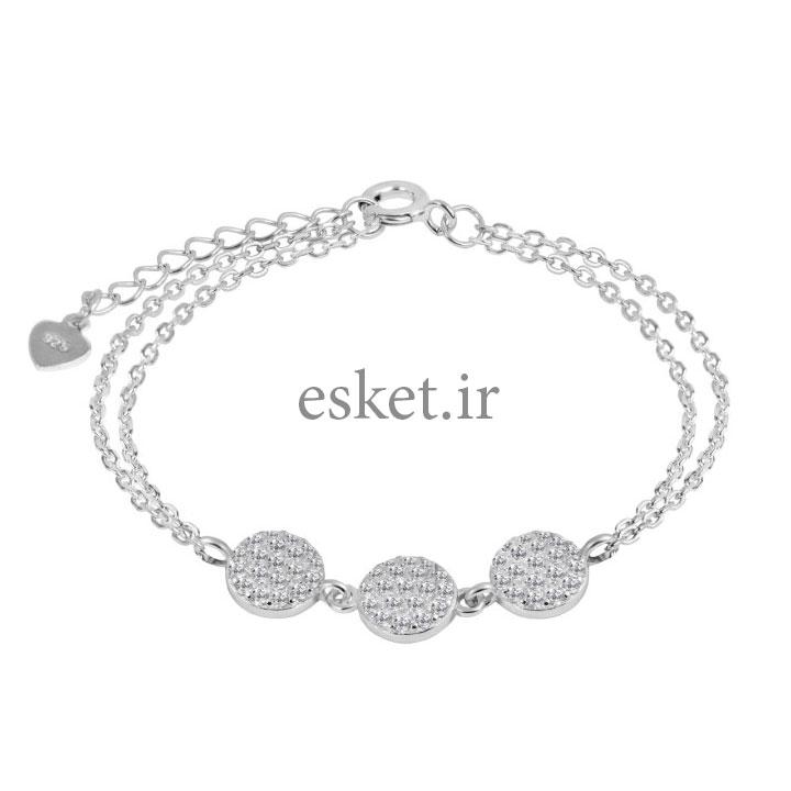 دستبند نقره زنانه زیبا اقلیمه کد DN453