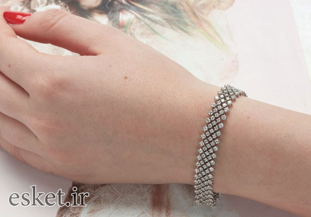 دستبند نقره زنانه زیبا
