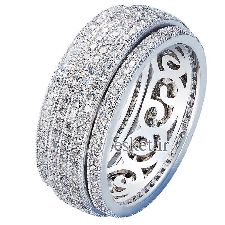 انگشتر نقره زنانه زیبا کد GR0428