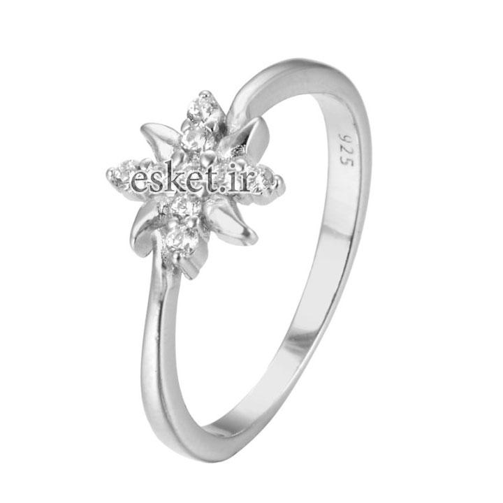 انگشتر نقره زنانه زیبا شهر جواهر کد SJ-YR079
