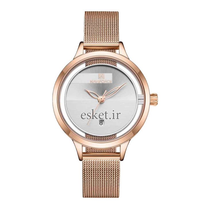 ساعت مچی زنانه زیبا نیوی فورس مدل NF5014L -RG-W