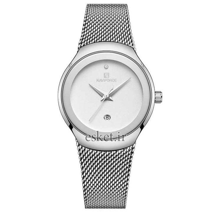 ساعت مچی زنانه زیبا نیوی فورس مدل NF5004-S-W