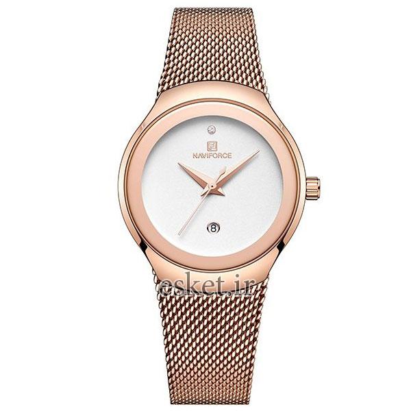 ساعت مچی زنانه زیبا نیوی فورس مدل NF5004/RGW