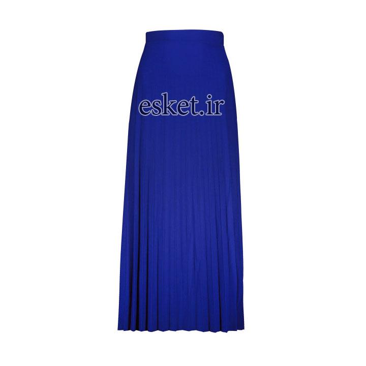 دامن راحتی زنانه شیک کد 3006-1102 رنگ آبی