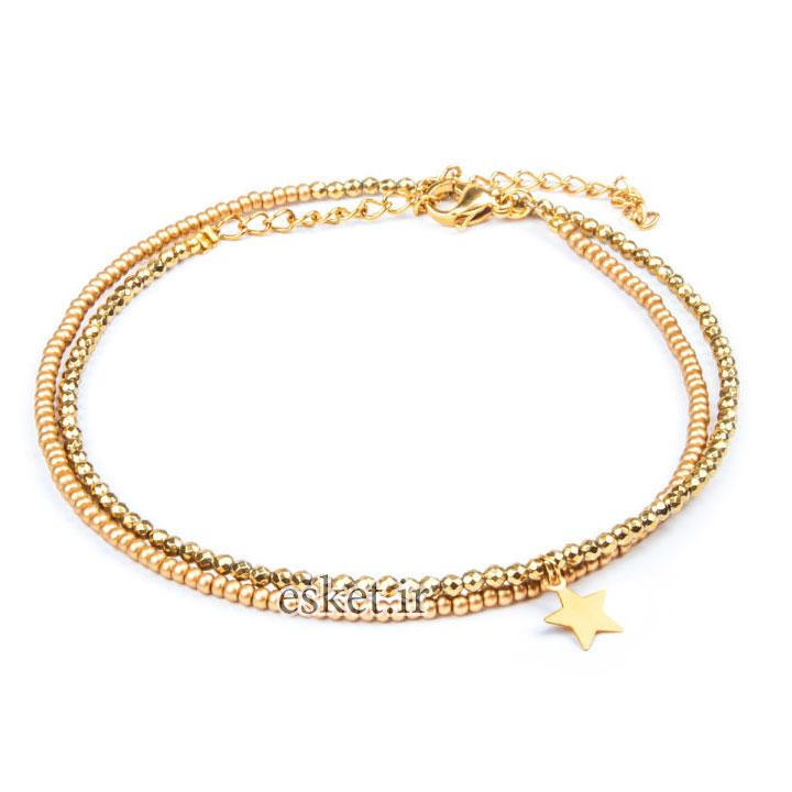 پابند طلا زنانه شیک 18 عیار زنانه ریسه گالری مدل Ri3-H2026