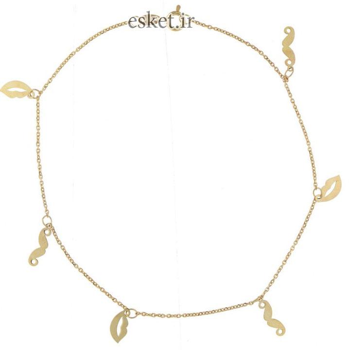 پابند طلا زنانه شیک 18 عیار ماهک مدل MA0093 - مایا ماهک
