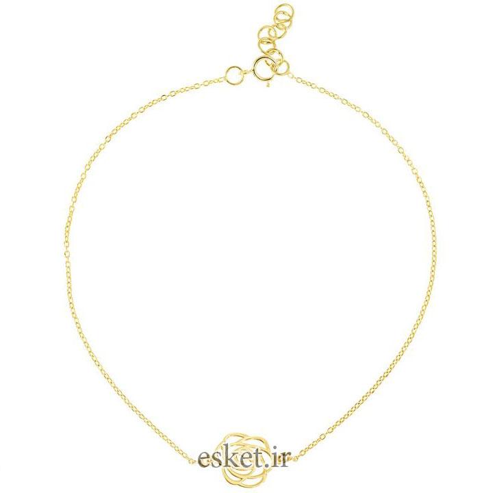 پابند طلا زنانه شیک 18 عیار رزا مدل AK25