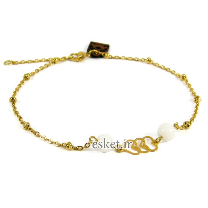 پابند طلا زنانه شیک 18عیار مانچو مدل Ag003