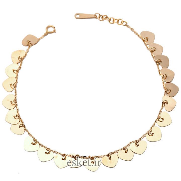 پابند طلا زنانه شیک 18 عیارکد N092