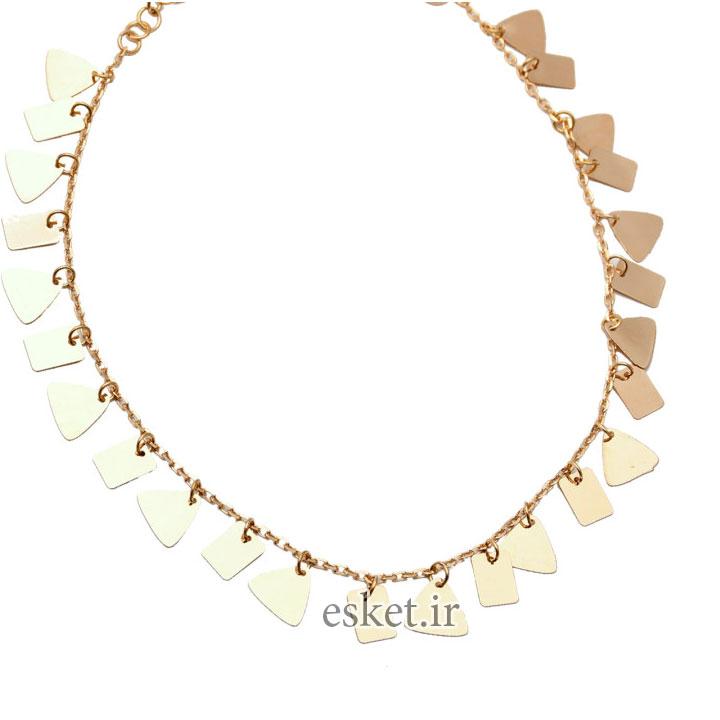 پابند طلا زنانه شیک 18 عیارکد N091