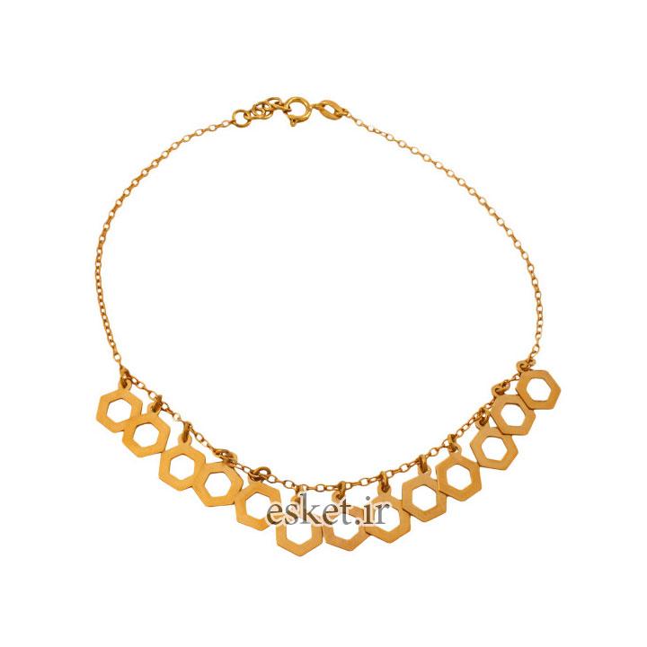 پابند طلا زنانه شیک ۱۸ عیار زنانه دُرج مدل DA01