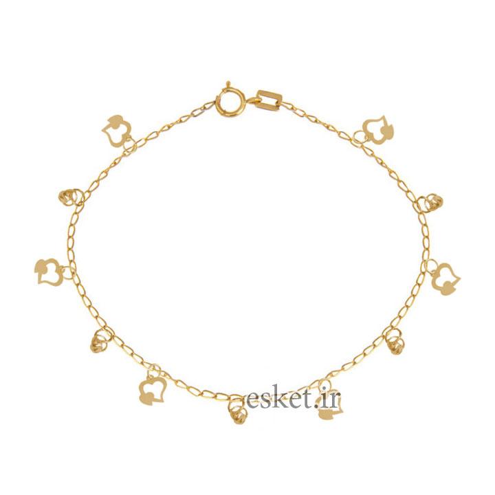پابند طلا زنانه شیک 18 عیار نازنین کد T2112
