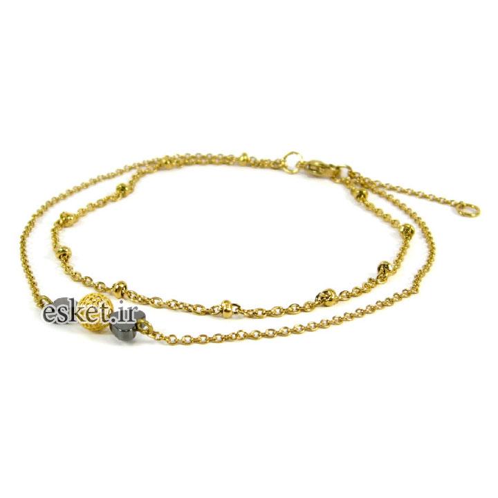 پابند طلا زنانه شیک 18عیار مانچو مدل Ag002