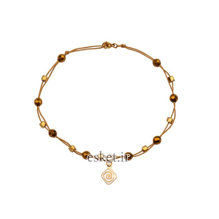پابند طلا زنانه شیک 18 عیار زنانه کرابو کد Kr2001