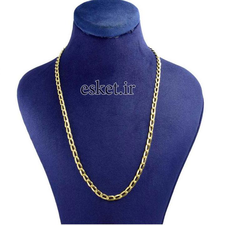 زنجیر طلا زنانه شیک 18 عیار کانیار گالری مدل ZG1