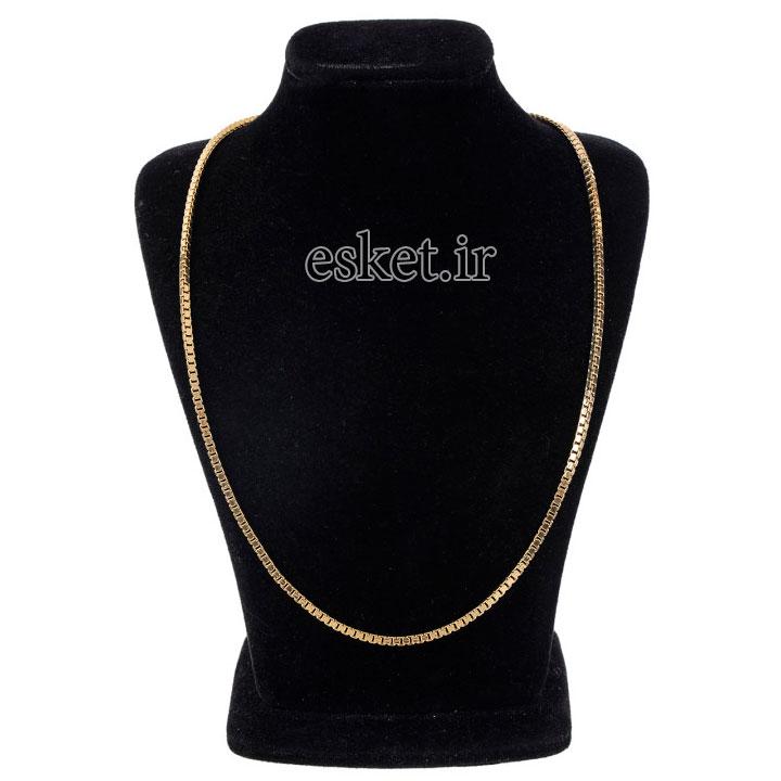 زنجیر طلا زنانه شیک 18 عیار گوی گالری مدل G24