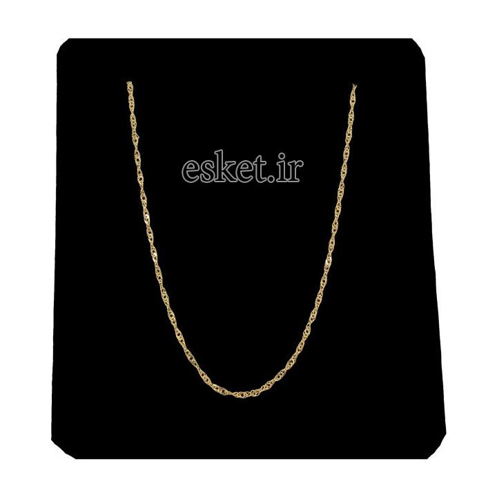 زنجیر طلا زنانه شیک 18 عیار طرح بافت مدل G140