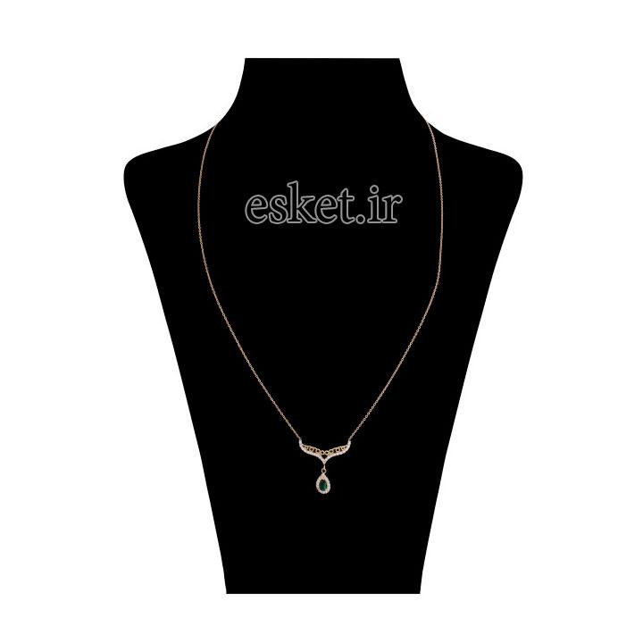 زنجیر طلا زنانه شیک 18 عیار میو گلد مدل GD271