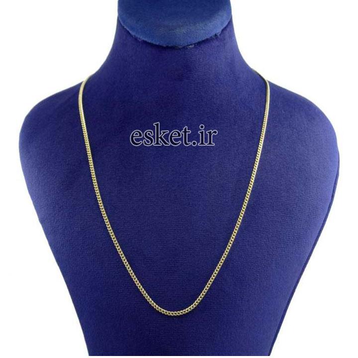 زنجیر طلا زنانه شیک 18 عیار کانیار گالری کد ZK5