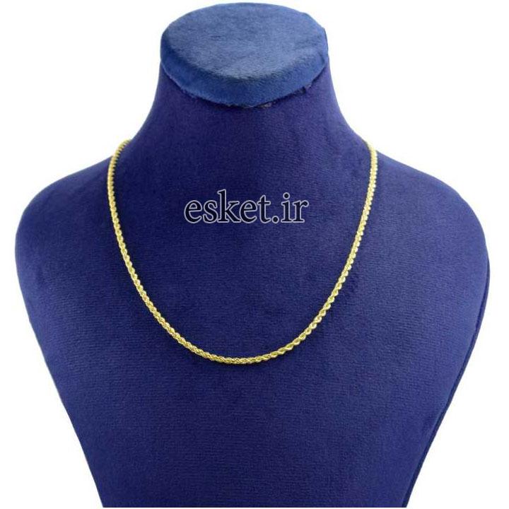 زنجیر طلا زنانه شیک 18 عیار کانیار گالری مدل ZT1