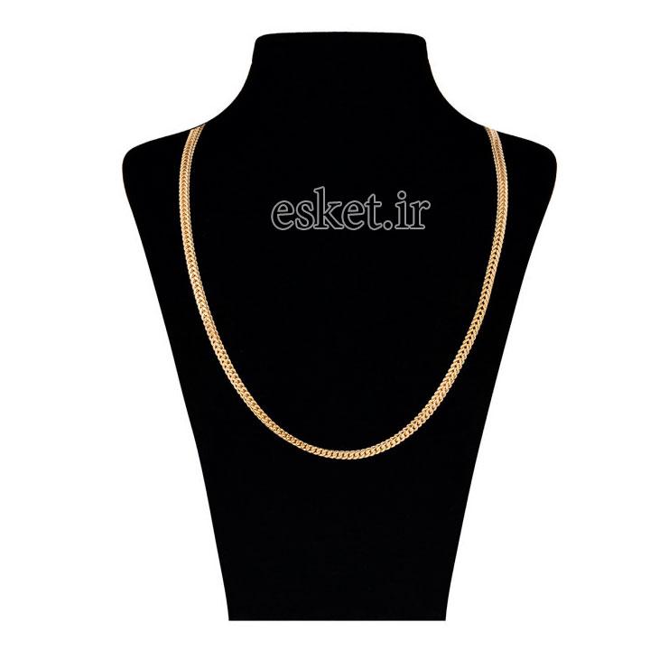 زنجیر طلا زنانه شیک 18 عیار گوی گالری مدل G65