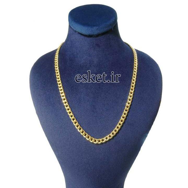 زنجیر طلا زنانه شیک 18 عیار کانیار گالری مدل ZK