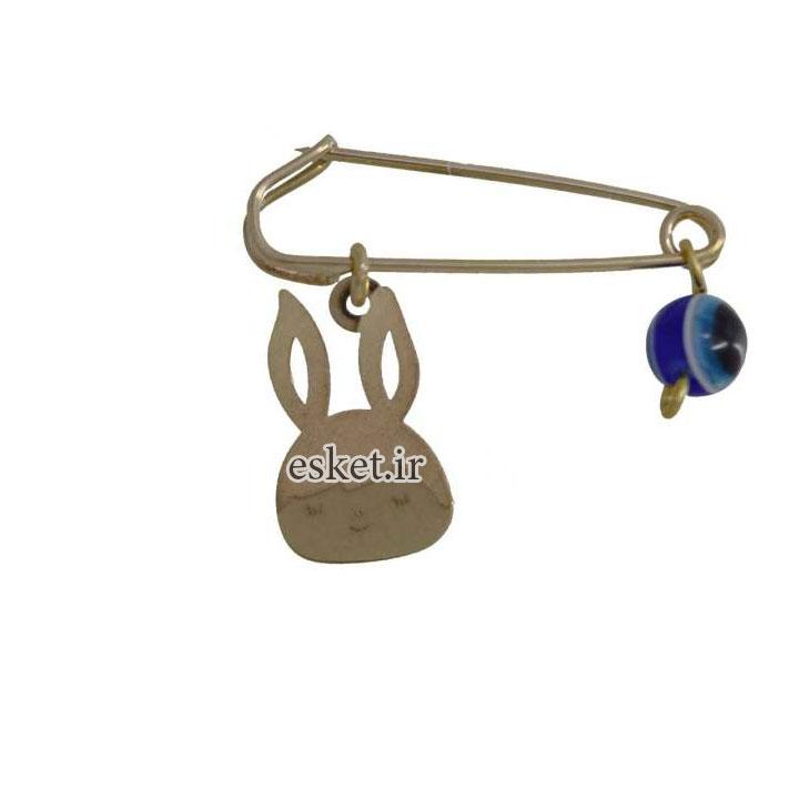سنجاق سينه طلا زنانه 18 عیار کانیار گالری مدل SAN23