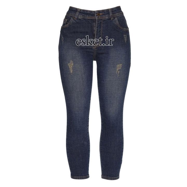 شلوار جین زنانه زیبا و جذاب مدل محیا کد 24 رنگ آبی تیره
