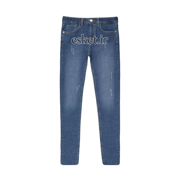 شلوار جین زنانه زیبا و جذاب آر ان اس مدل 1104076-58