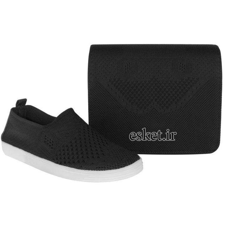 ست کیف و کفش زنانه زیبا کد BFT01-BL