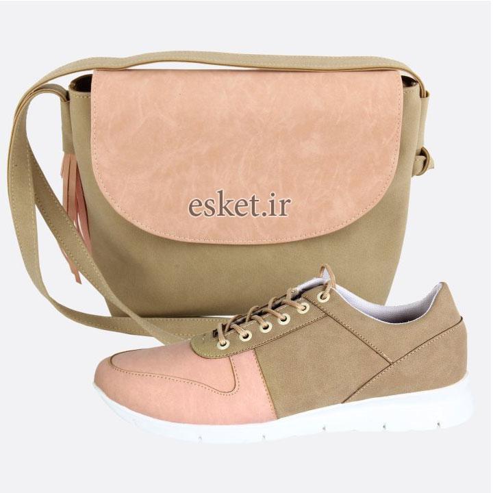 ست کیف و کفش زنانه زیبا کد 027